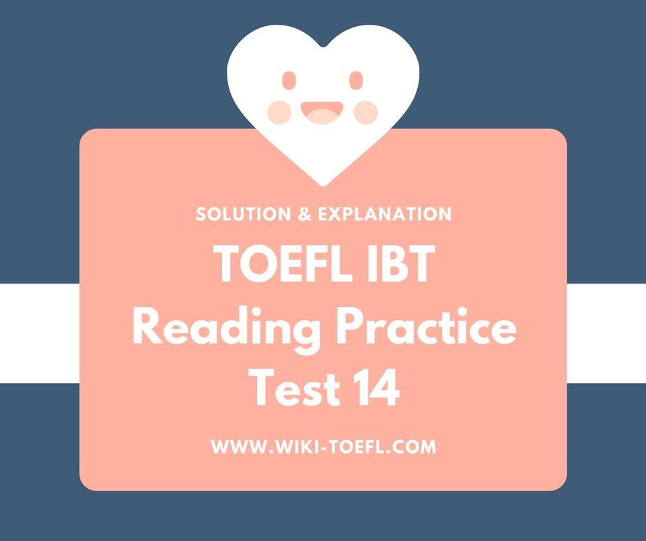 TOEFL IBT Reading Practice Test 14