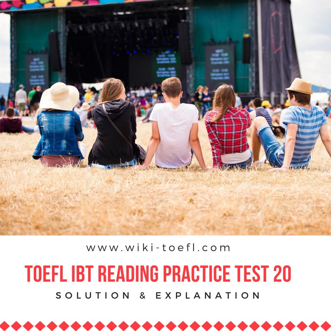 TOEFL IBT Reading Practice Test 20 Solution & Explanation